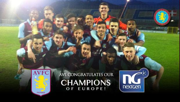 NextGen 2013 Aston Villa Winning Team
