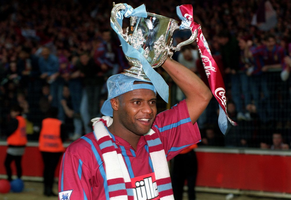 Dalian Atkinson with the 1994 Coca Cola Cup