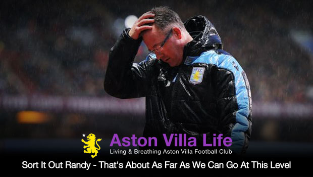 Sort It Out Randy – That's About As Far As We Can Go At This Level